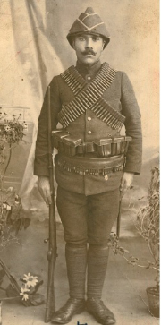 My grandfather Mihran enrolled in the Ottoman Army before the genocide - 1914